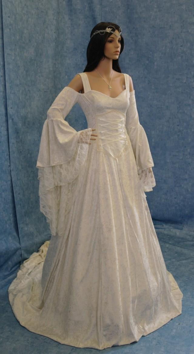 Renaissance Medieval Handfasting Wedding Dress Fairy Custom Made 2241670
