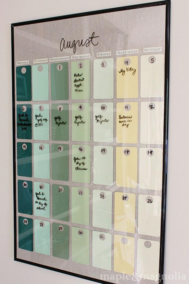 Diy Calendar With Paint Samples : How to make paint chip wall calendar diy crafts