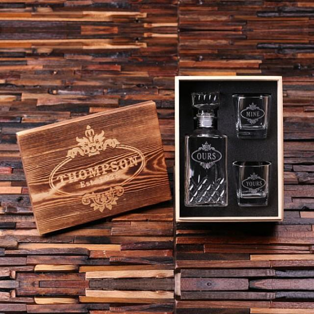 Personalized Engraved Etched Scotch Whiskey Decanter ...