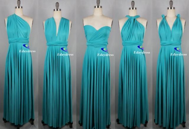 Weddings Wrap Infinity Convertible Dress Full Length Turquoise ...