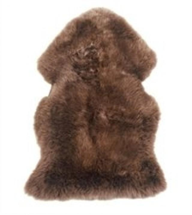wedding photo - Premium Sheepskin Rugs - Brown Single 1-Pelt