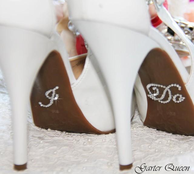 I do and me too bridal shoe sticker silver crystal sticker i do for bridal  shoes. 2pcs set ... 5a5c16d1aa56