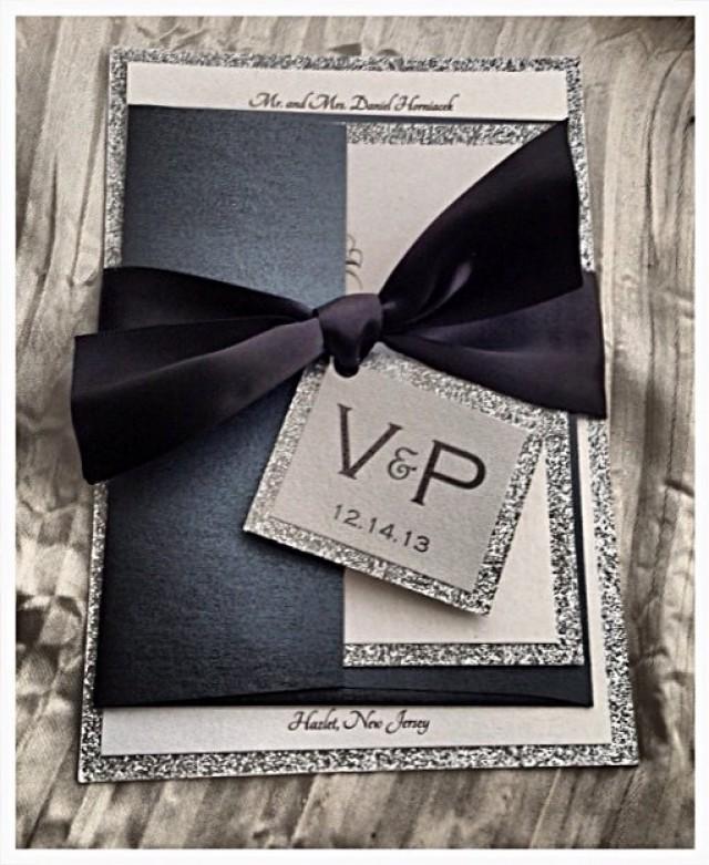 Black Tie Wedding Examples: Wedding Invitations, Black Tie Wedding Invitation, Black