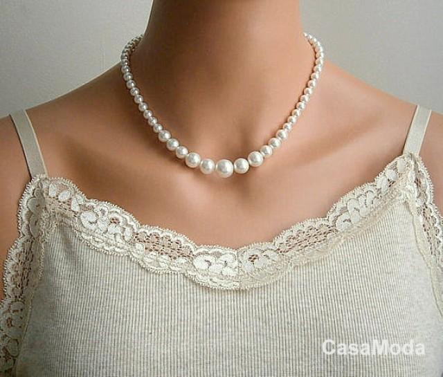 Pearl Necklace Styles: Pearl Necklace, Bridal Pearl Necklace, Vintage Style