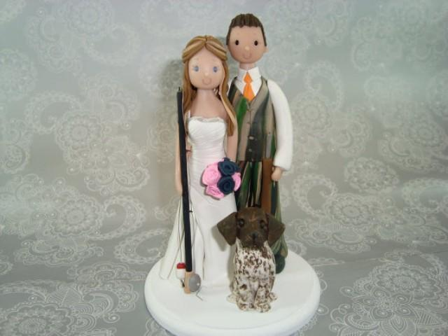 Personalized Fishing Hunting Theme Wedding Cake Topper 2242898 Weddbook