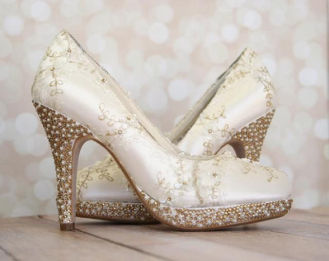 Wedding Shoes -- Ivory Platform Wedding Heels #2243036 - Weddbook