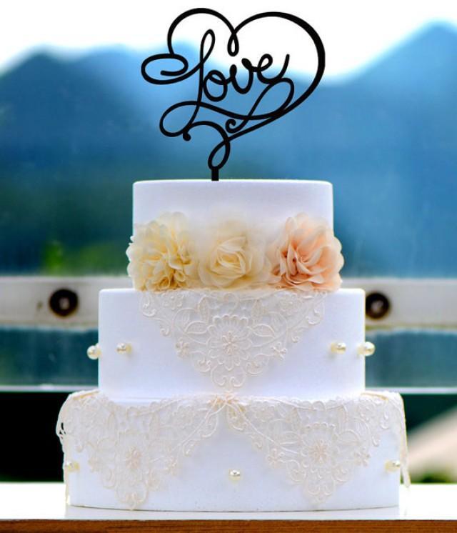 Cricut Monogram Cake Topper
