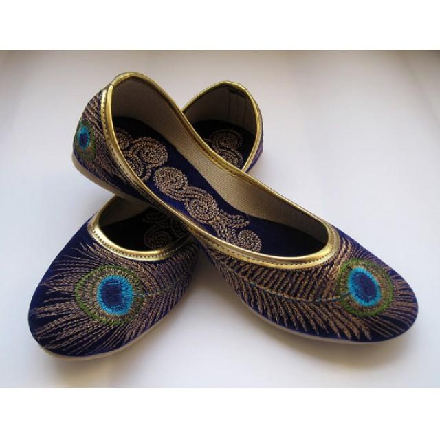 Blue Indian Men Khussa Shoes