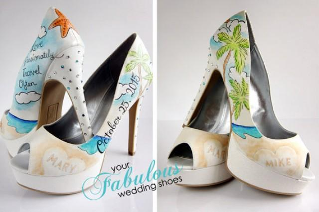 Beach Wedding Shoes Destination Wedding Personalized Shoes Christmas Gift For Bride The Best