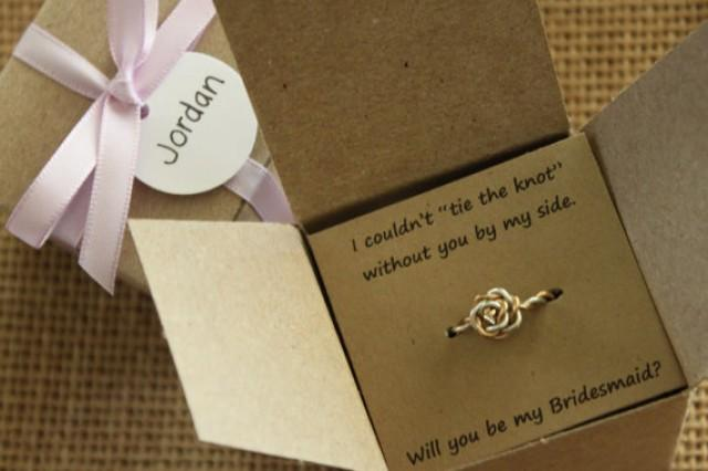 Tie The Knot Ring Will You Be My Bridesmaid Gift Maid Of