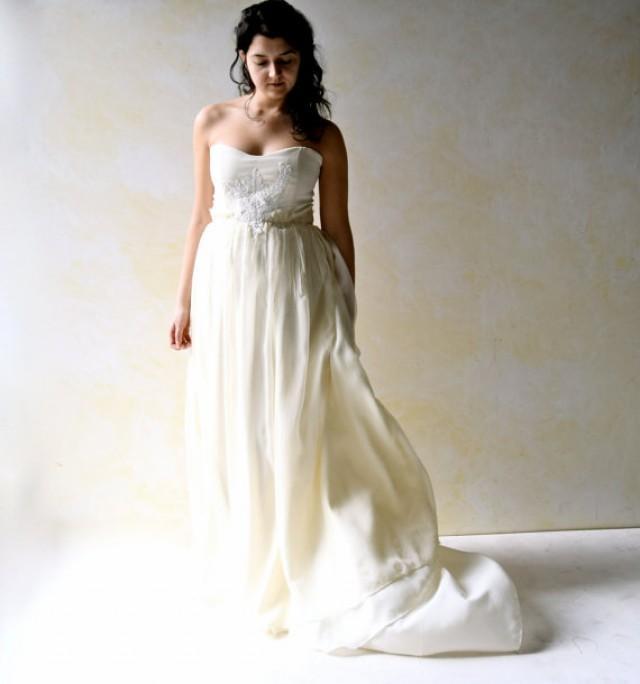 Fairy Wedding Dress, Strapless Wedding Dress, Wedding Gown ...