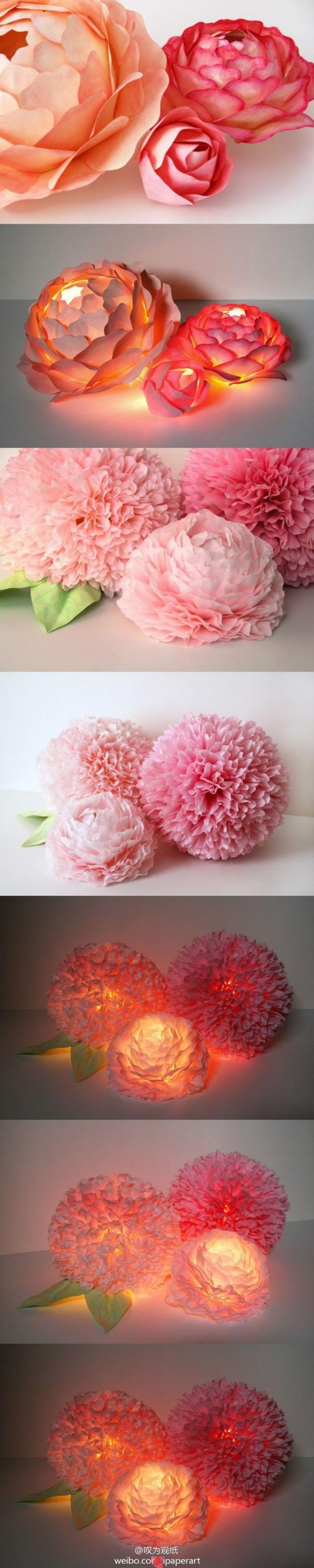 Как сделать из бумаги огромные цветы