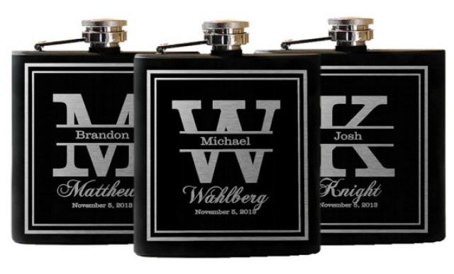 Wedding Party Gift Ideas For Groomsmen Canada : Wedding Party Favors, Groomsmen Flask Gifts, Custom Engraved Flask ...