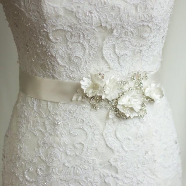Bridal sash wedding dress belt rhinestone sash bridal for Rhinestone sash for wedding dress