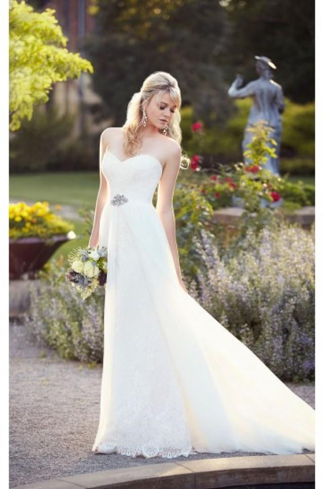 Essense of australia a line lace wedding dress style d1809 A line lace wedding dress australia