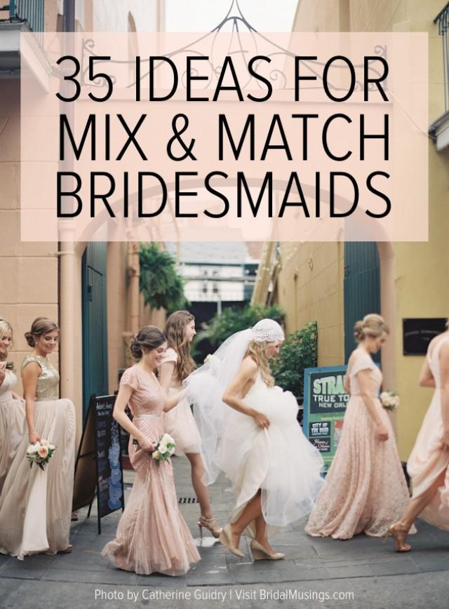 35 Ideas For Mix And Match Bridesmaid Dresses Weddbook