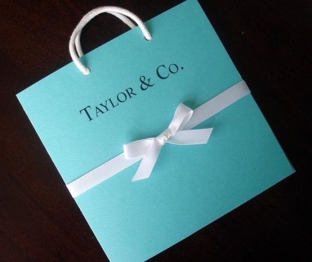 Tiffany And Co. Inspired Tiffany Blue Bag Bridal Shower