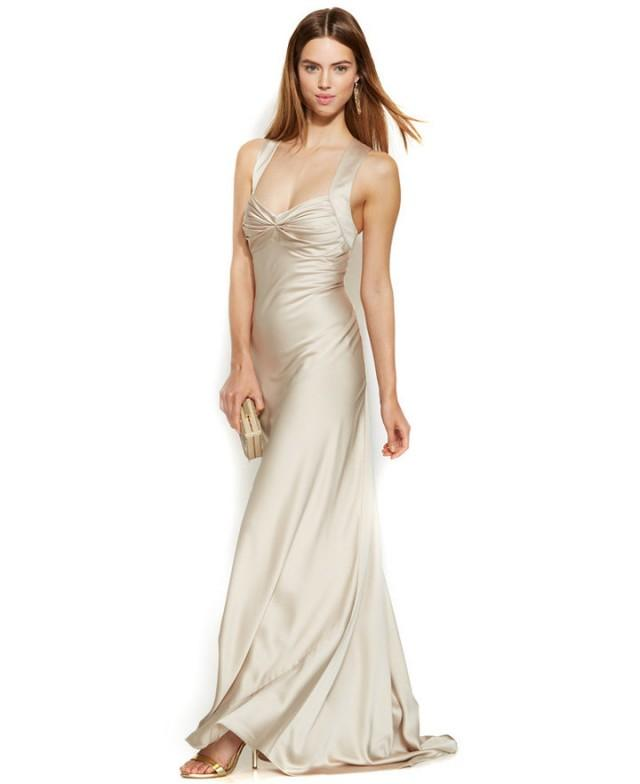 Calvin Klein Wedding Gowns: Calvin Klein Sleeveless Satin Sweetheart Gown #2248237