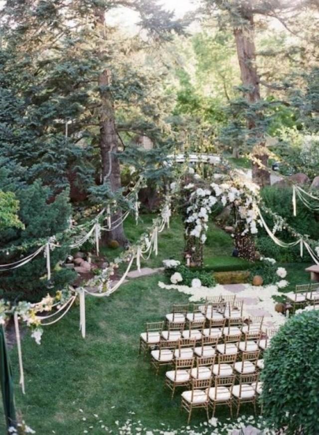 Wedding Ceremony In Backyard : 27 Amazing Backyard Wedding Ceremony Decor Ideas  Weddingomania