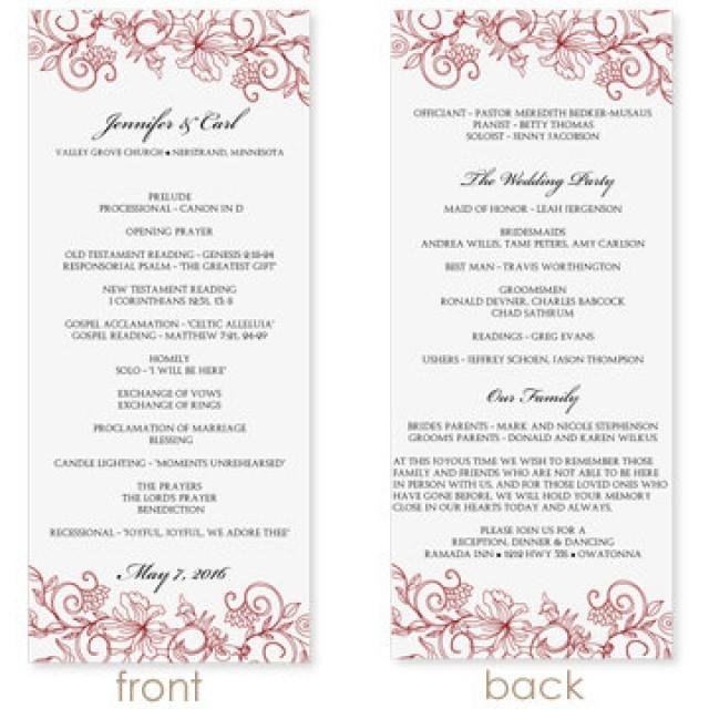 Ms Word Program Template. wedding program template swirl and ...