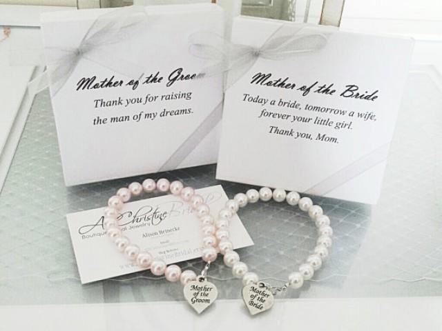 Memorable Wedding Gift: Mother Of The Bride Pearl Strand Bracelet, Mother Of The
