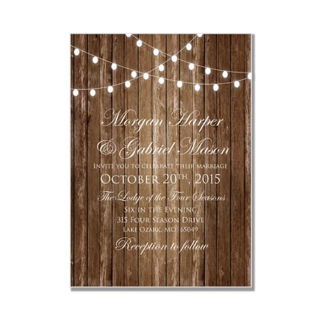 Rustic Wedding Invitation Country Chic