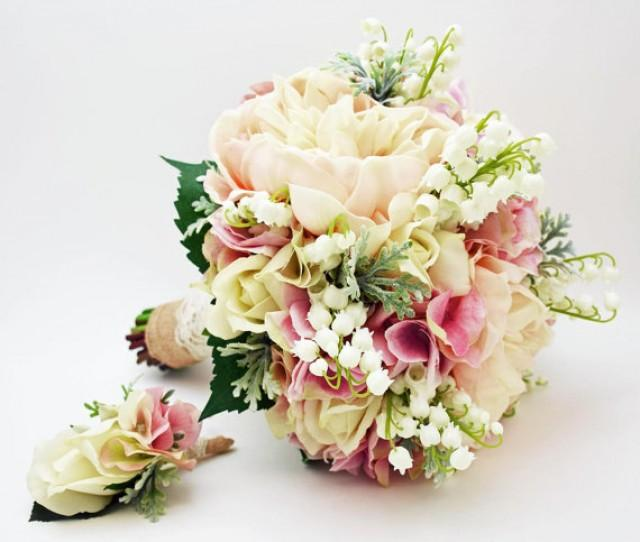 Lily Of The Valley Bouquet: Bridal Bouquet Lily Of The Valley Peonies Roses