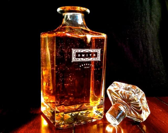 Groomsmen gift personalized whiskey decanter engraved 2251806