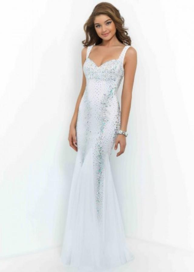 Fashion Cheap White Beaded Straps Sweetheart Open Back Fitted Prom Dress 2252039 Weddbook