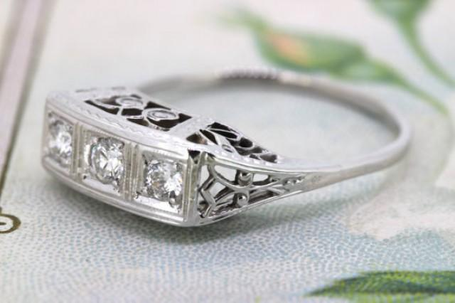 wedding photo - Art Deco Ring