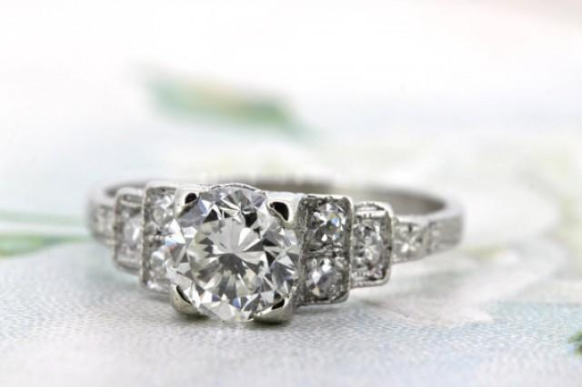 wedding photo - Art Deco Engagement Ring