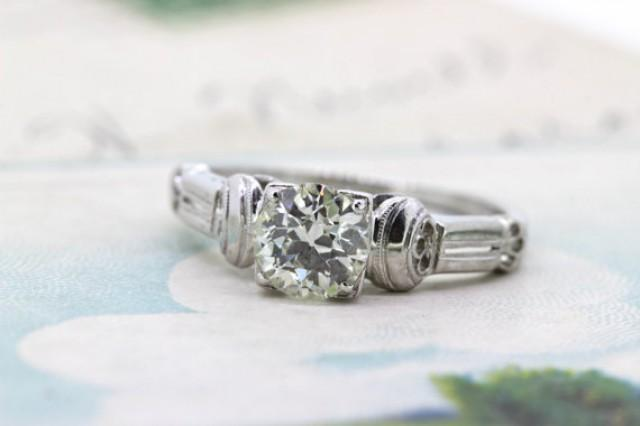 wedding photo - SALE Antique Engagement Ring