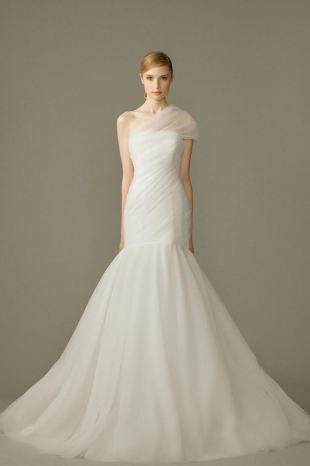 One Shoulder Strap Wedding Dress Inspiration 2252227 Weddbook