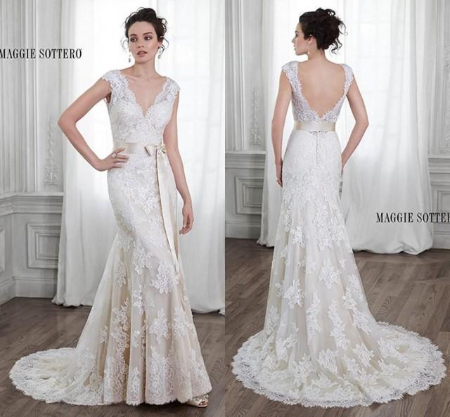 2015 elegant ivory vintage wedding dresses beach bridal for Vintage wedding dresses online shop