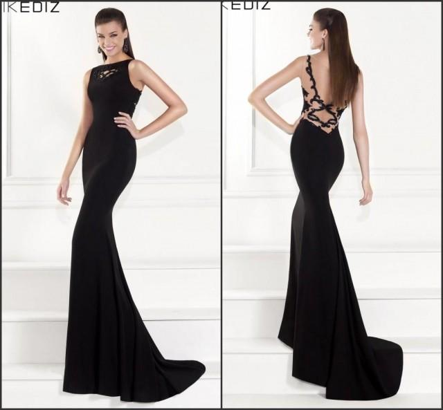 Prom black beaded backless satin party dress formal gowns new style