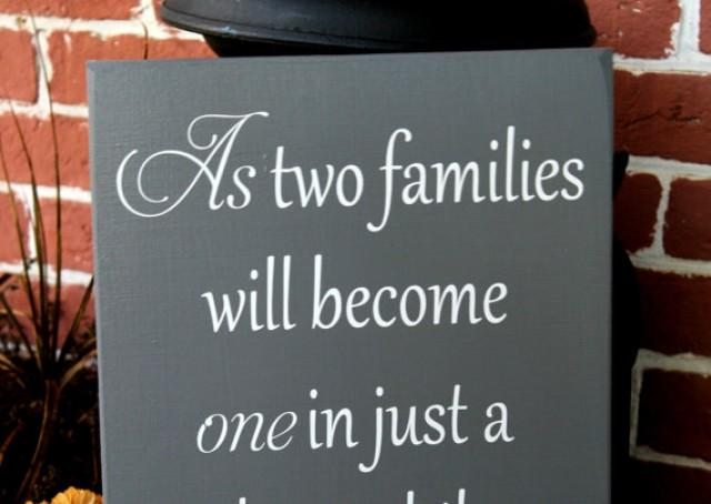 "11"" X 23"" Wooden Wedding Sign - As Two Families Will ..."