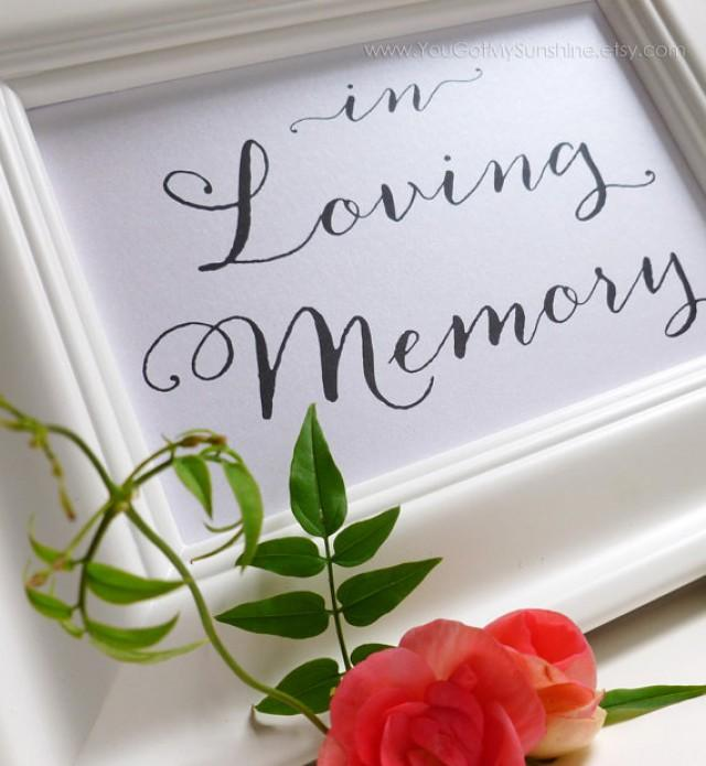 Memorial Sign For Wedding Reception Or Special Events