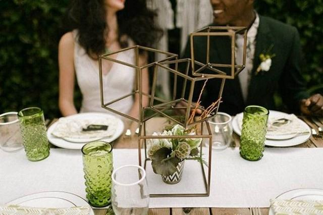 wedding photo - Geometric Decor for Your Modern Wedding