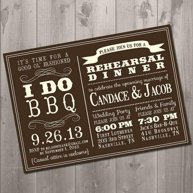 i do bbq - wedding rehearsal dinner invitation