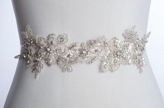 kara beaded lace bridal sash lace wedding belt bridal