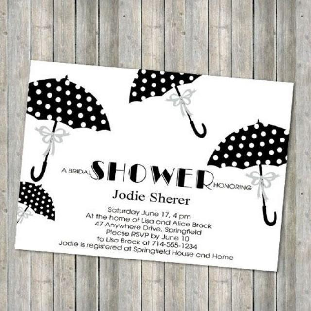 cheap polka dot umbrella bridal shower invitations ewbs041 2255335