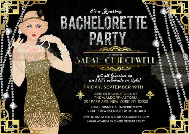 Bachelorette Birthday Invitation Milestone ANY AGE Roaring ...