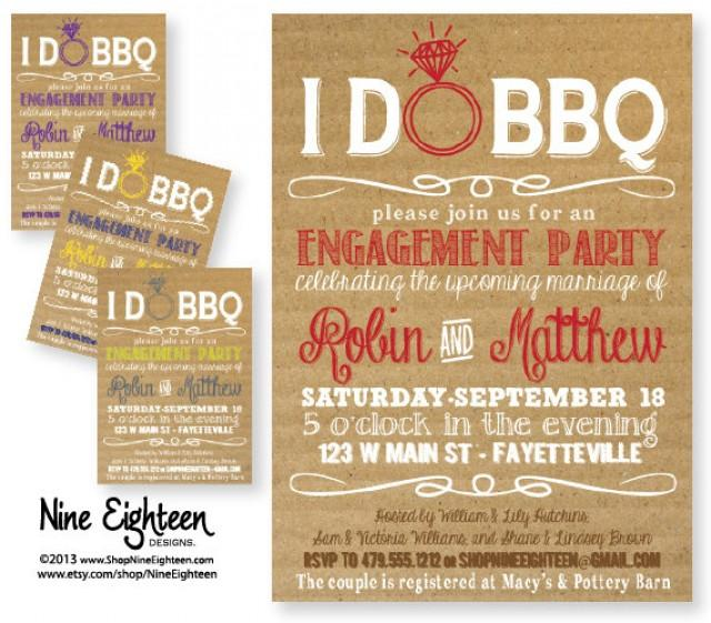 I Do Bbq Engagement Party Invitation Barbeque Bridal