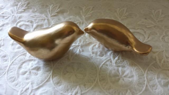 Ceramic Love Birds Cake Topper