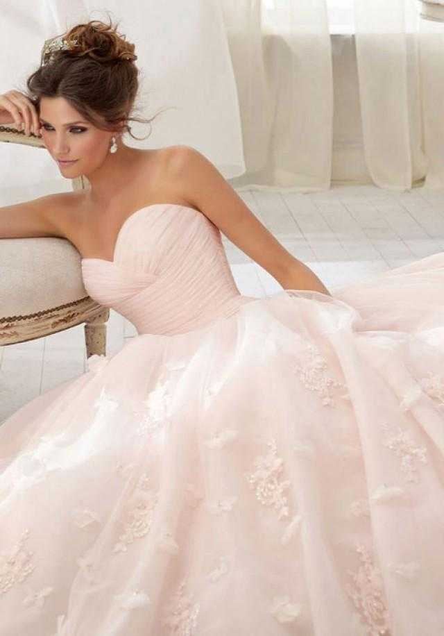 wedding photo - Tulle Chapel Train Sweetheart Natural Waist Beading,flowers Wedding Dress