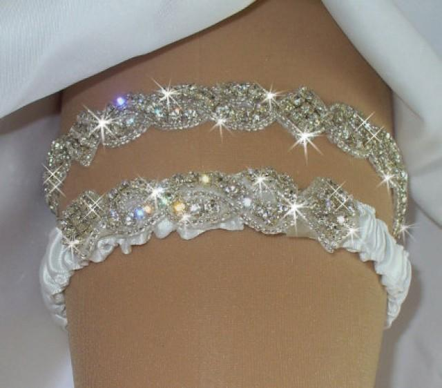 Wedding Garter Set Etsy Wedding Garter Rhinestone Wedding Wedding Garder Wedding Reception