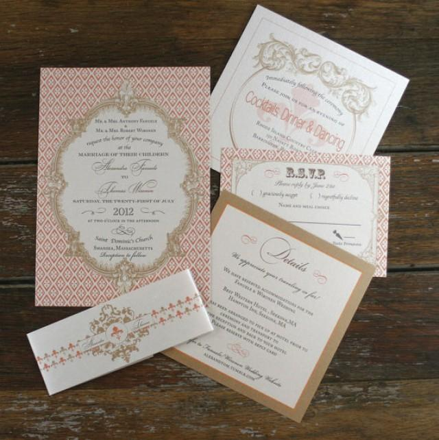 French Baroque Wedding Invitation SetsFleur De Lis Wedding Invites French Wedding Invitations