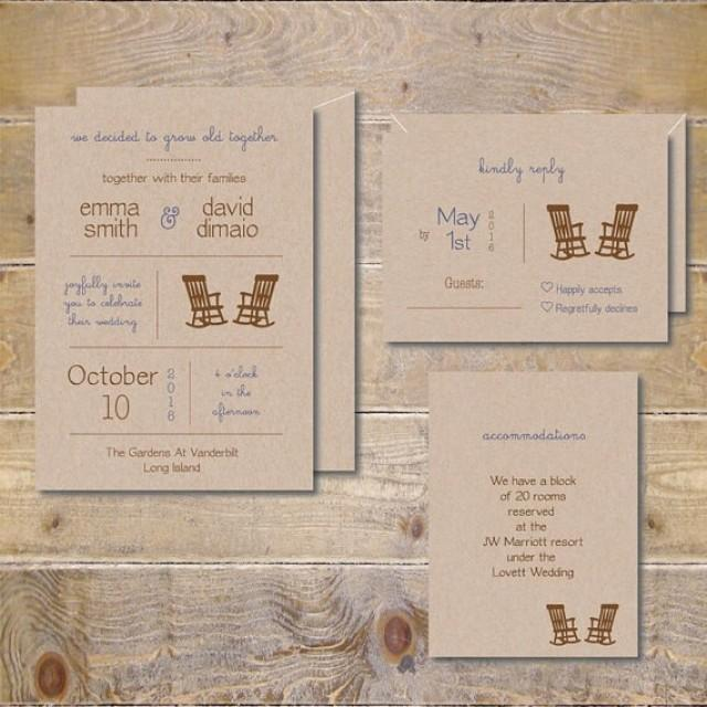 Recycled Paper Wedding Invitations: Barn Wedding Invitations, Recycled Wedding Invitations