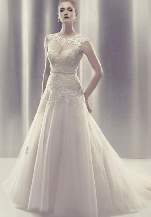 wedding photo - chapel train tulle,lace high neck ball gown bow wedding dress - Cheap-dressuk.co.uk