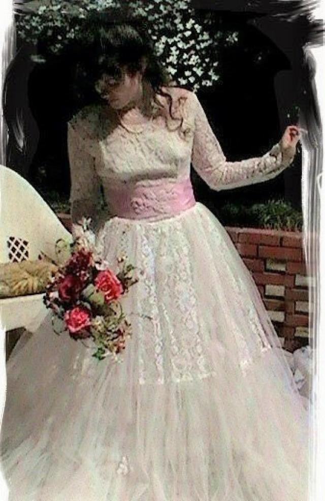 SALE Vintage Wedding Dress Altered Couture Wedding Dress 1950s Wedding Dress Fantasy Wedding